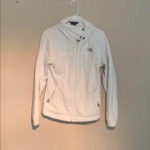 North face plush white sweater jacket